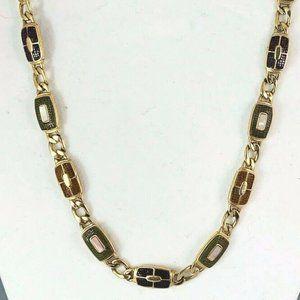 Vintage Signed Monet Gold Tone Necklace Classic
